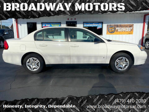 2007 Chevrolet Malibu for sale at BROADWAY MOTORS in Van Buren AR