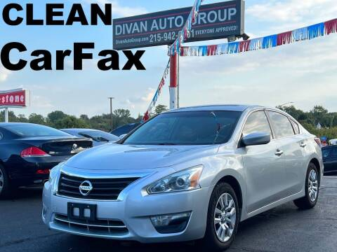 2015 Nissan Altima for sale at Divan Auto Group in Feasterville Trevose PA