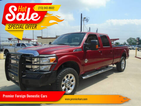 2014 Ford F-350 Super Duty for sale at Premier Foreign Domestic Cars in Houston TX