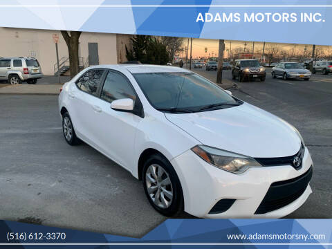 2014 Toyota Corolla for sale at Adams Motors INC. in Inwood NY