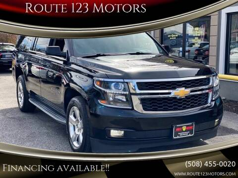 2015 Chevrolet Suburban for sale at Route 123 Motors in Norton MA