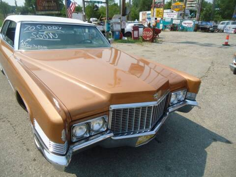 1970 Cadillac DeVille for sale at Marshall Motors Classics in Jackson Michigan MI