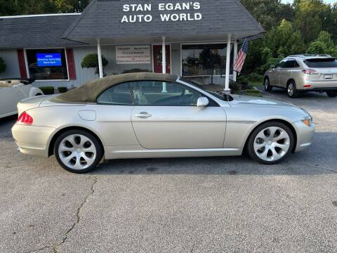 2004 BMW 6 Series for sale at STAN EGAN'S AUTO WORLD, INC. in Greer SC
