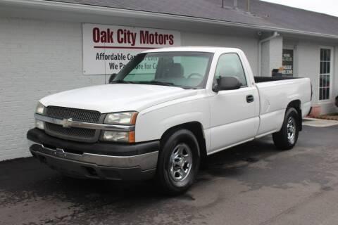 2004 Chevrolet Silverado 1500 for sale at Oak City Motors in Garner NC