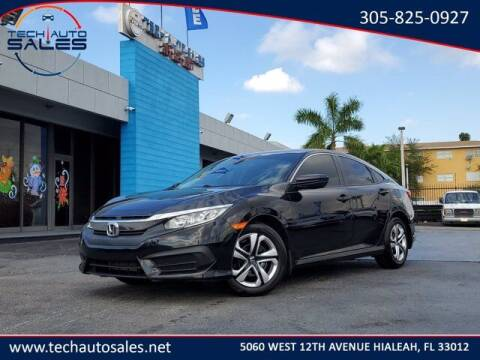 2018 Honda Civic for sale at Tech Auto Sales in Hialeah FL