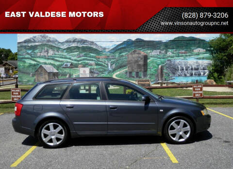 2005 Audi A4 for sale at EAST VALDESE MOTORS in Valdese NC