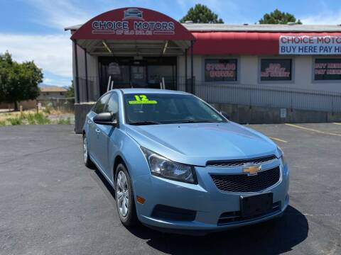 2012 Chevrolet Cruze for sale at Choice Motors of Salt Lake City in West Valley  City UT