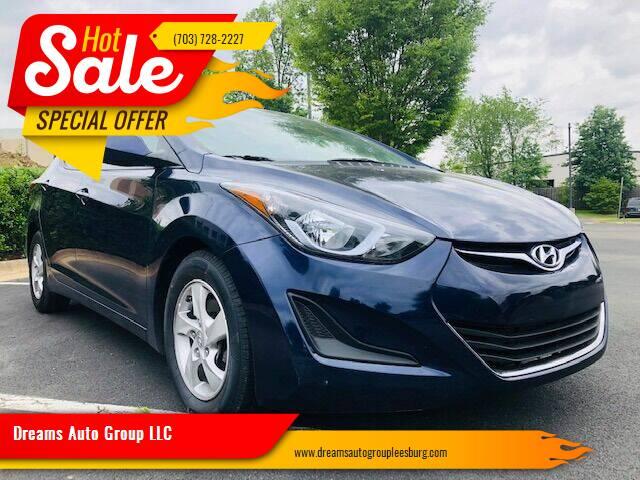2014 Hyundai Elantra for sale at Dreams Auto Sales LLC in Leesburg VA