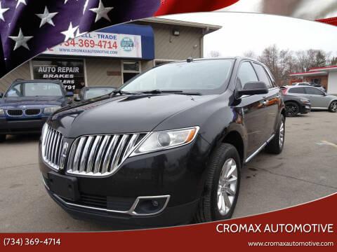 2013 Lincoln MKX for sale at Cromax Automotive in Ann Arbor MI
