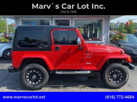 2000 Jeep Wrangler for sale at Marv`s Car Lot Inc. in Zeeland MI