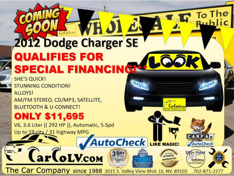 2012 Dodge Charger for sale at The Car Company in Las Vegas NV