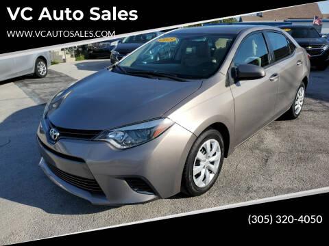 2015 Toyota Corolla for sale at VC Auto Sales in Miami FL