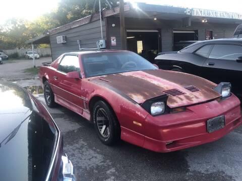 1986 Pontiac Firebird for sale at Texas Luxury Auto in Houston TX