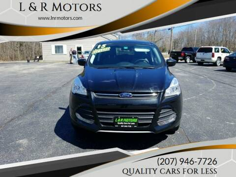 2015 Ford Escape for sale at L & R Motors in Greene ME