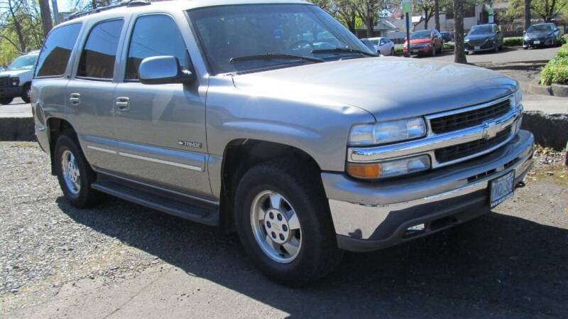2002 Chevrolet Tahoe for sale at D & M Auto Sales in Corvallis OR