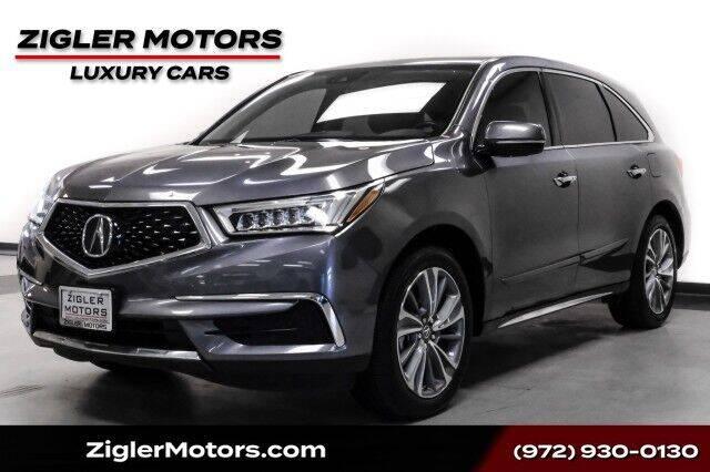 2017 Acura MDX for sale at Zigler Motors in Addison TX