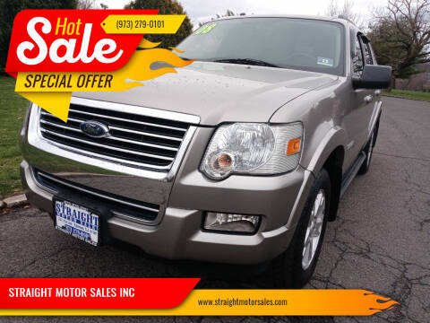 2008 Ford Explorer for sale at STRAIGHT MOTOR SALES INC in Paterson NJ