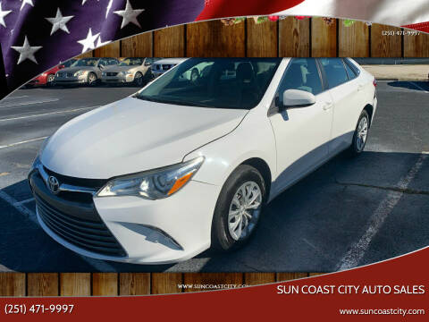 2016 Toyota Camry for sale at Sun Coast City Auto Sales in Mobile AL