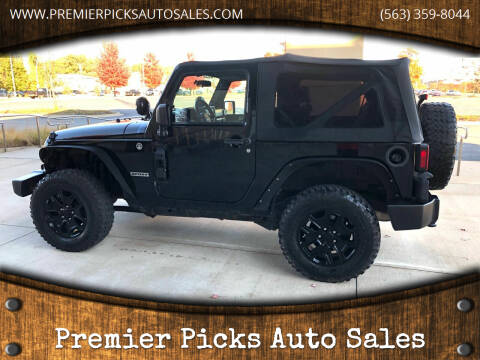 2010 Jeep Wrangler for sale at Premier Picks Auto Sales in Bettendorf IA