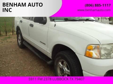 2004 Ford Explorer for sale at BENHAM AUTO INC in Lubbock TX