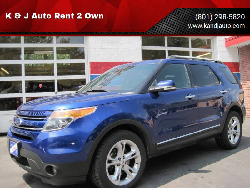 2014 Ford Explorer for sale at K & J Auto Rent 2 Own in Bountiful UT