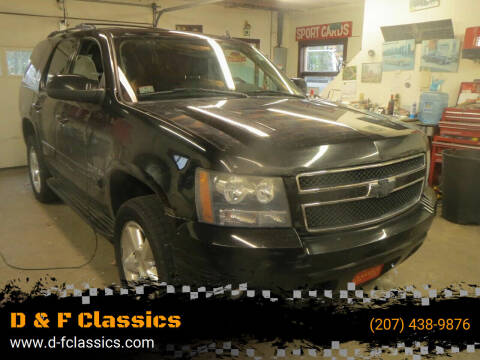 2008 Chevrolet Tahoe for sale at D & F Classics in Eliot ME