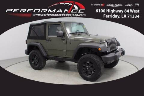 2015 Jeep Wrangler for sale at Performance Dodge Chrysler Jeep in Ferriday LA
