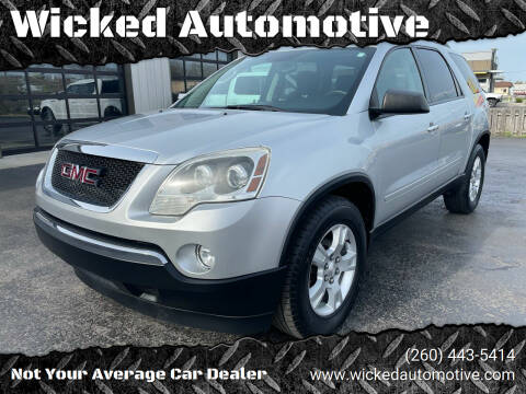 2012 GMC Acadia for sale at Wicked Automotive in Fort Wayne IN