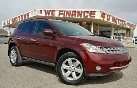 2007 Nissan Murano for sale at 4 U MOTORS in El Paso TX