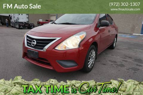 2015 Nissan Versa for sale at F.M Auto Sale LLC in Dallas TX