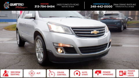 2015 Chevrolet Traverse for sale at Quattro Motors 2 - 1 in Redford MI