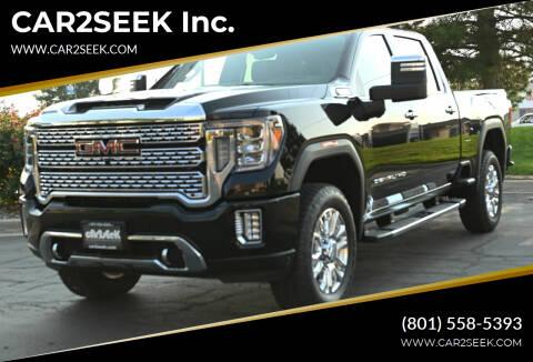 2020 GMC Sierra 3500HD for sale at CAR2SEEK Inc. in Salt Lake City UT