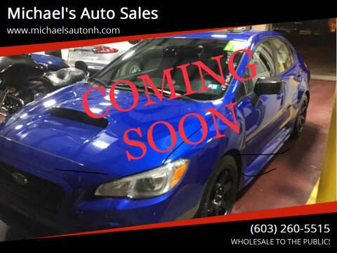 2015 Subaru WRX for sale at Michael's Auto Sales in Derry NH