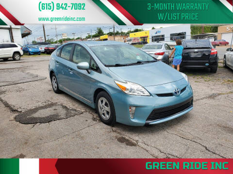 2012 Toyota Prius for sale at Green Ride Inc in Nashville TN