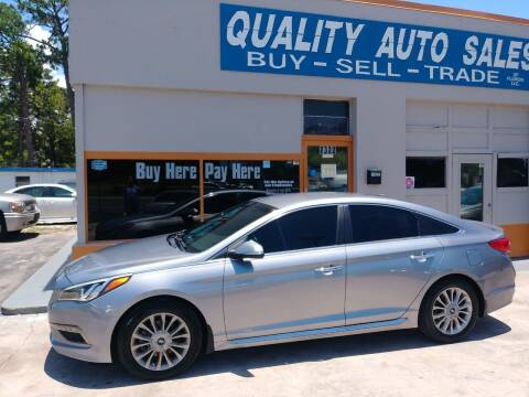 2015 Hyundai Sonata for sale at QUALITY AUTO SALES OF FLORIDA in New Port Richey FL