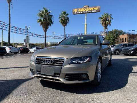 2009 Audi A4 for sale at A MOTORS SALES AND FINANCE in San Antonio TX