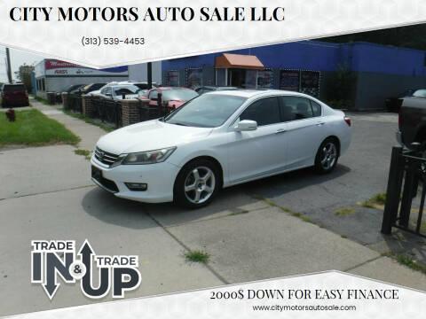 2013 Honda Accord for sale at City Motors Auto Sale LLC in Redford MI