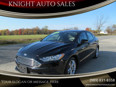 2018 Ford Fusion for sale at KNIGHT AUTO SALES in Stanton MI