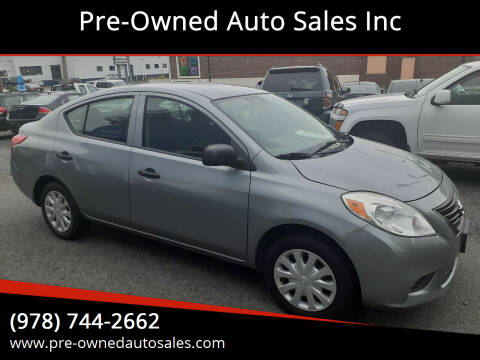 2012 Nissan Versa for sale at Pre-Owned Auto Sales Inc in Salem MA