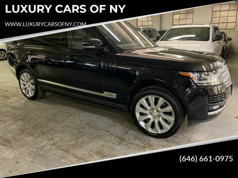 2014 Land Rover Range Rover for sale at LUXURY CARS OF NY in Queens NY