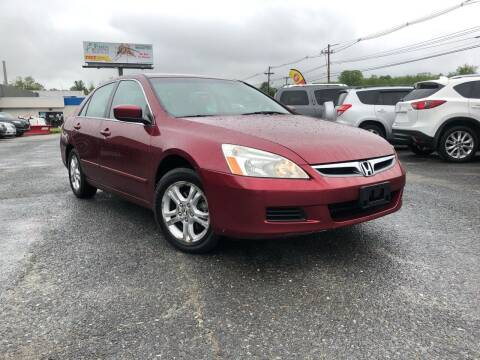 2006 Honda Accord for sale at Mass Motors LLC in Worcester MA