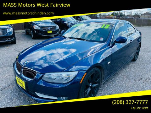2013 BMW 3 Series for sale at MASS Motors West Fairview in Boise ID