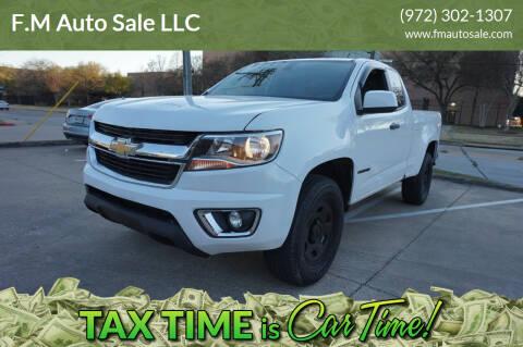 2016 Chevrolet Colorado for sale at F.M Auto Sale LLC in Dallas TX