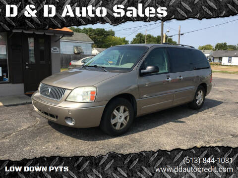 2004 Mercury Monterey for sale at D & D Auto Sales in Hamilton OH