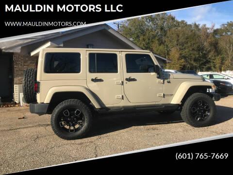 2018 Jeep Wrangler JK Unlimited for sale at MAULDIN MOTORS LLC in Sumrall MS