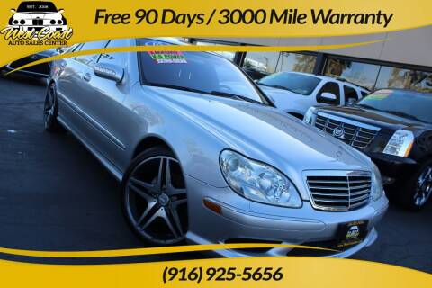 2005 Mercedes-Benz S-Class for sale at West Coast Auto Sales Center in Sacramento CA