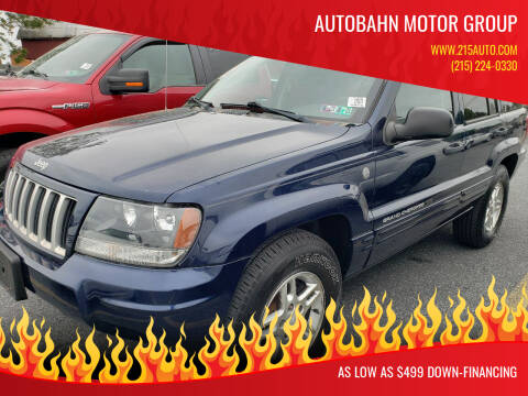 2004 Jeep Grand Cherokee for sale at Autobahn Motor Group in Willow Grove PA