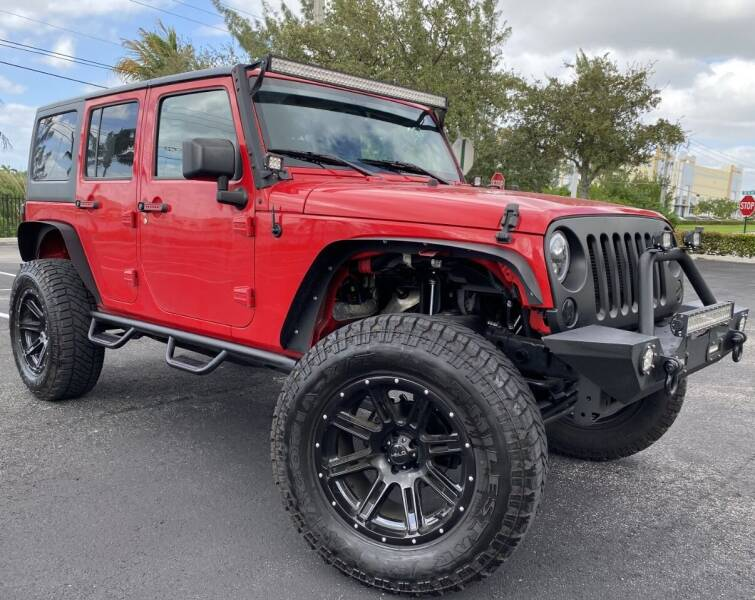 2016 Jeep Wrangler Unlimited for sale at Maxicars Auto Sales in West Park FL