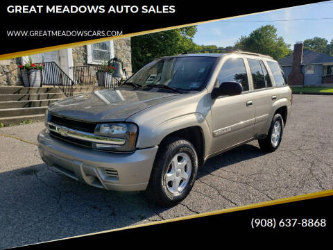 2002 Chevrolet TrailBlazer for sale at GREAT MEADOWS AUTO SALES in Great Meadows NJ
