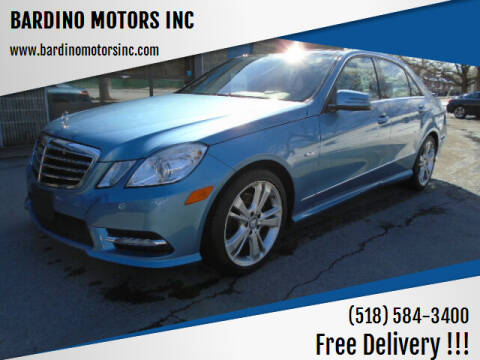2012 Mercedes-Benz E-Class for sale at BARDINO MOTORS INC in Saratoga Springs NY